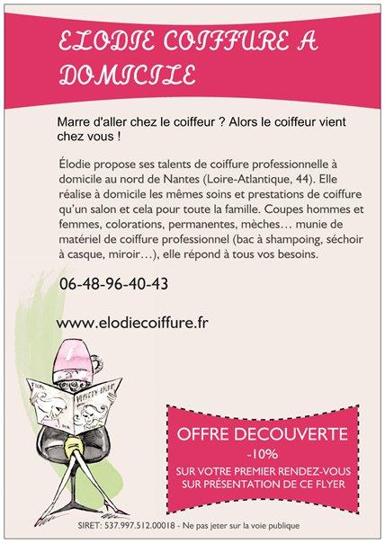 Bien-aimé nouveau flyer ! | Élodie Coiffure à Domicile WB22